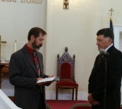 The ordination and installation of Dave Craig as Elder.