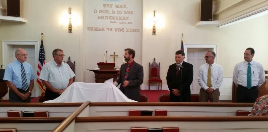 Left to Right: Elder Art Center, Elder Tom Rogers, Pastor Peter Bailey, Elder Dave Craig, Elder Glenn Knect, Elder Scott Niles