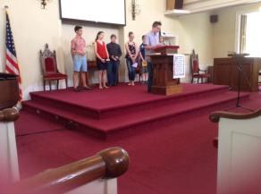 Youth Sunday School presentations